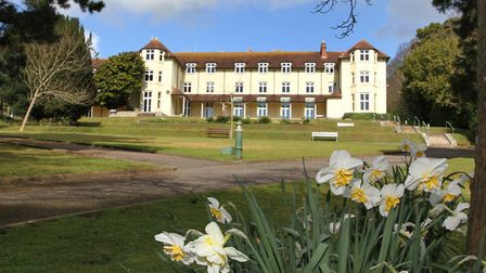 Set in delightful grounds, the headquarters of EDDC at Knowle. Photo by Simon Horn. Ref shs 7658-15-