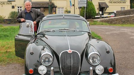 Mike Lavers with his 1960 Jaguar XK