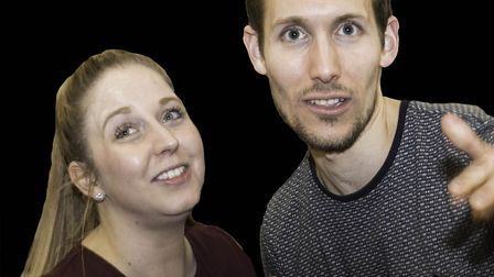 Samantha Morris and Tim Landy, partners in real life, will be playing newlyweds.