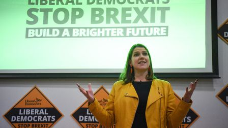 Liberal Democrat leader Jo Swinson speaks during the launch of Sam Gyimah MP campaign in Kensington.