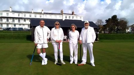 Sidmouth Croquet Club members all set for a new season of action.
