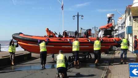 An EDDC visited the Sidmouth Lifeboat station to learn more and see the crew in training