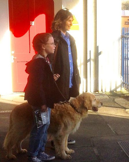 Simon Wood snapped Helen Baxendale and another young actress at Axminster railway station - when the