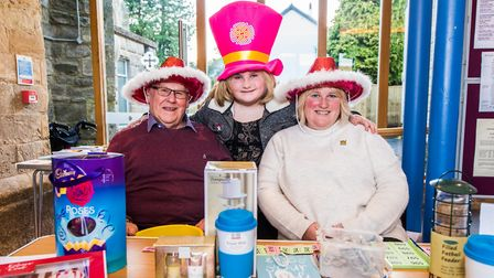 Charlotte Reid and her mum Angela sold badges to raise awareness for Brain Tumour Research. Credit: