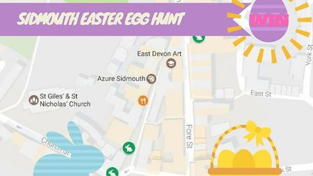 Have a go at the Sidmouth Easter Egg hunt for a chance to win a giant Easter egg.