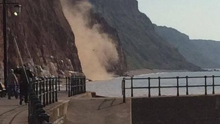 Josh O'Connor captured this photograph of the cliff fall.