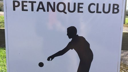 Ottery St Mary petanque club sign