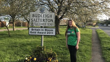 Lauren Brewster, who will travel to South America for volunteering, pictured on her 22-mile walk fro