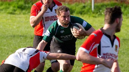 Sidmouth Chiefs at home to Wellington. Ref shsp 13-17TI 9513. Picture: Terry Ife