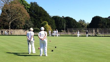Sidmouth ladies Over-50s League action