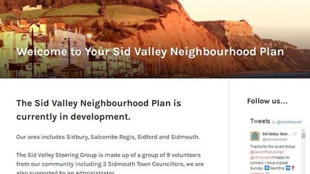 The Sid Valley Neighbourhood Plan steering group has launched a new website