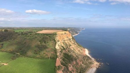 Paraglider Steve got these photos of the coastline in Sidmouth and Beer on Tuesday