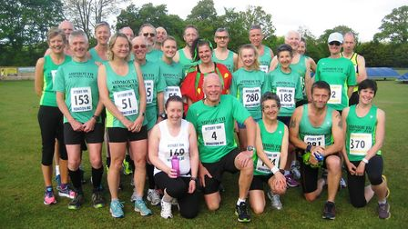 Sidmouth runners at the Ottery 10k