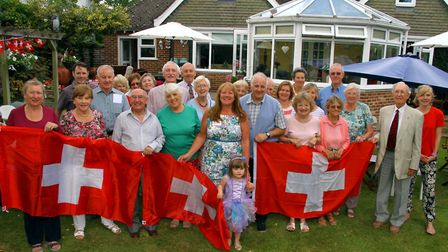 Sidmouth Twinning Circle garden party. Ref shs 4291-30-15AW. Picture: Alex Walton