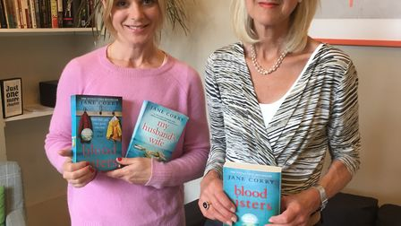 Emilia Fox with Jane Corry and her new book.