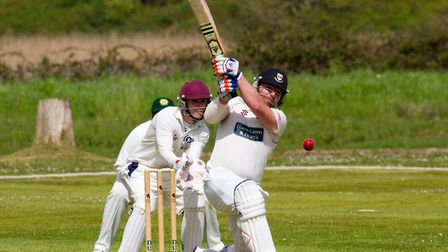 Sidmouth batsman Matthew Cook at Budleigh. Ref shsp 16 17TI 1465. Picture: Terry Ife