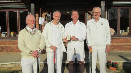 The Sidmouth Sunday croquet team that saw action at Nailsea (left to right), Richard Wood, Philip H