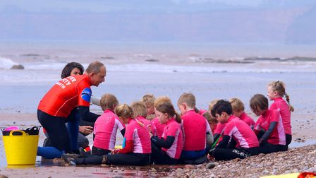 Sidmouth Surf Lifesaving Club started the 2017 season with a splash on Saturday. Photos by Simon Hor