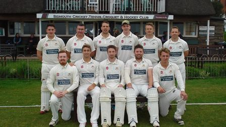 Sidmouth Cricket Club 1st XI before the first game of the new Tolchards Devon League season
