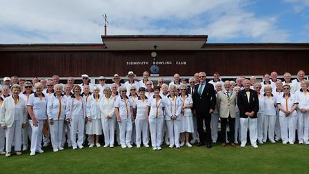 Sidmouth Bowls Club members at the opening drive meeting