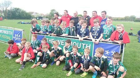 Sidmouth juniors who took part in the tour to Weymouth
