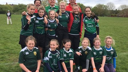 Sidmouth Under-13 girls on who travelled to Weymouth for a weekend tour
