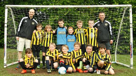 West Hill Wasps Under-8s after they had completed their first season together as a team