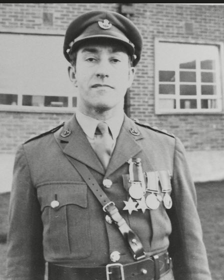 Derek Pedder in his army days.