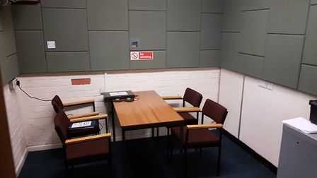 The interview room at Sidmouth police station