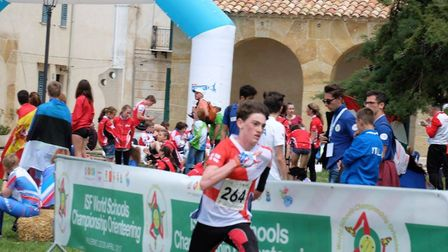 Edmund Grierson from the King's School won an individual silver and team silver at the World Schools