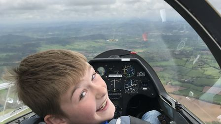 A visitor enjoying the Open Weekend event at Devon and Somerset Gliding Club