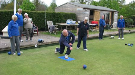 Action from the Bowls 4 Fun event held art Ottery St Mary