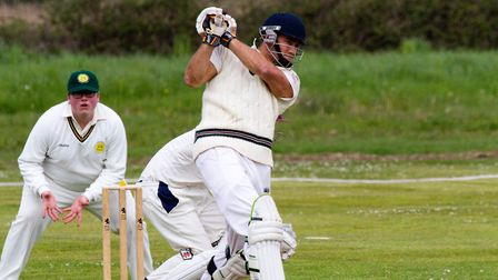 Sidmouth batsman Zac Bess at Budleigh. Ref shsp 16 17TI 1444. Picture: Terry Ife