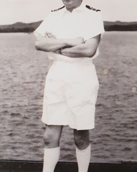 Paul Haines early in his career in the Royal Navy