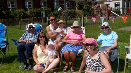 Four generations of the Salter and Retter family at The Big Lunch. Ref shs 25 17TI 4804. Picture: Te