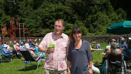 Tracey Scott and Robert Crick, organisers of The Big Lunch in Sidmouth. Ref shs 25 17TI 4802. Pictur