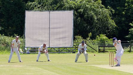 Anthony Cox batting for Sidmouth at home to Seaton. Ref shsp 25 17TI 4824. Picture: Terry Ife