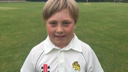 Ollie Olliff starred with some big hitting as Ottery St Mary Under-13s defeated Sampford Peverell