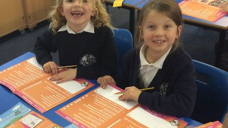 Pupils at Sidmouth Primaruy School filling out the children and young people survey for the Sid Vall