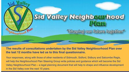 The second residents' questionnaire for the Sid Valley Neighbourhood Plan