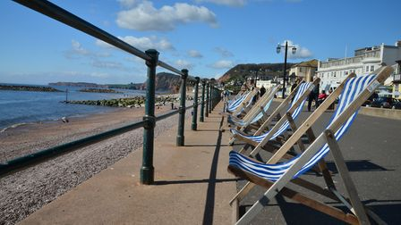 Deck chairs along Sidmouth seafront. Picture: Alex Walton Photography