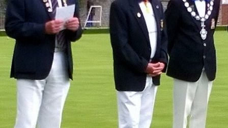 Sidmouth Bowls Club were delighted to play host to the Devon County president's team