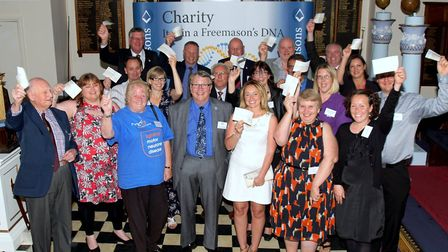 Beneficiaries of the Freemasons of Devon's Wake Fund, which included Ottery St Mary Hospital League