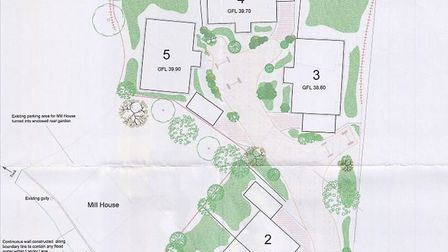 The site plan for Laundry Lane