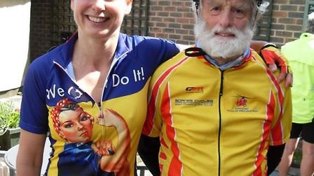 Becca Mawson and her dad Roger are fundraising for Devon Young Carers