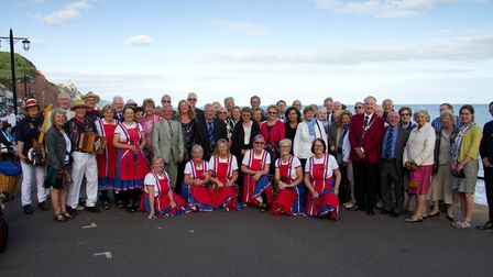 Sidmouth Twinning civic dinner. Ref shs 24 17TI 4473. Picture: Terry Ife