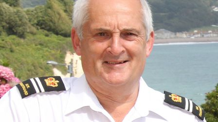 Beer Coastguard officer - Terry Hoare. Ref shb 6872-32-15SH. Picture: Simon Horn