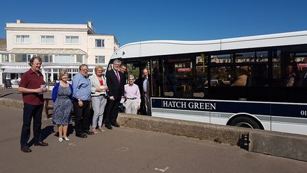 Town councillors with Sid Vale Association chairman Allan Darrant (far left), Sidmouth Chamber of Co