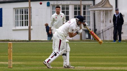 Will Murray batting for Sidmouth at home to Paington. Ref shsp 19 17TI 2359. Picture: Terry Ife