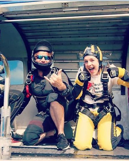 Charlotte Vincent, who was once scared of heights, prepares to jump out of a plane in memory of her